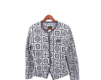 Vintage 60s NORDIC Button Up Blazer womens small med
