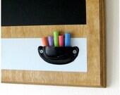 Gray / Black / Wood Eco-friendly Chalkboard - 23 x 14.5 - WALK THE LINE