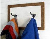 Black and White Coat Rack - wood, organize, redecorate, vintage hooks, eco-friendly, kids - THE MINIMALIST