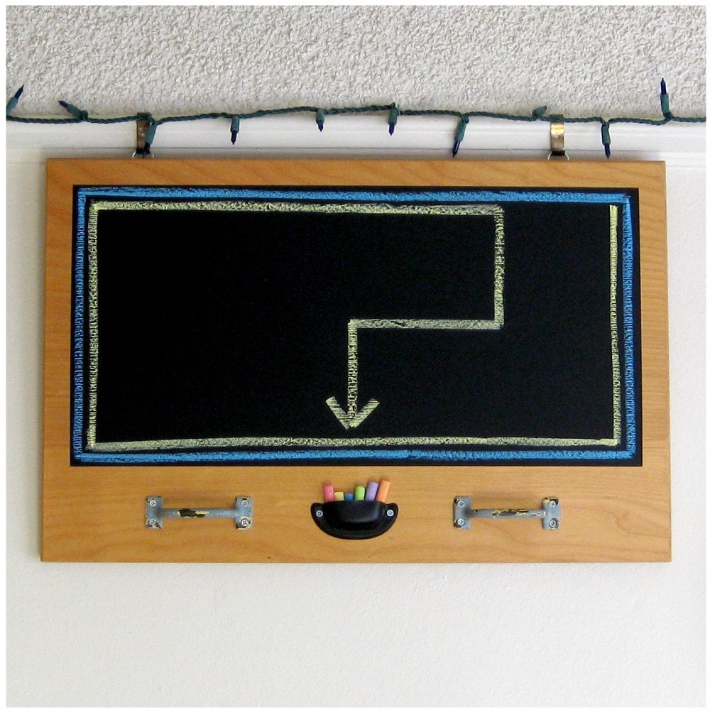 Eco-friendly Chalkboard / Organizer made from Repurposed Wood