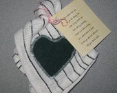 SALE 30 percent OFF Scrubby Heart Dish Cloth