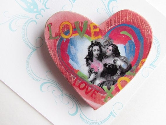 Magnet - Mothers Day - Mother and Daughter - Large Size