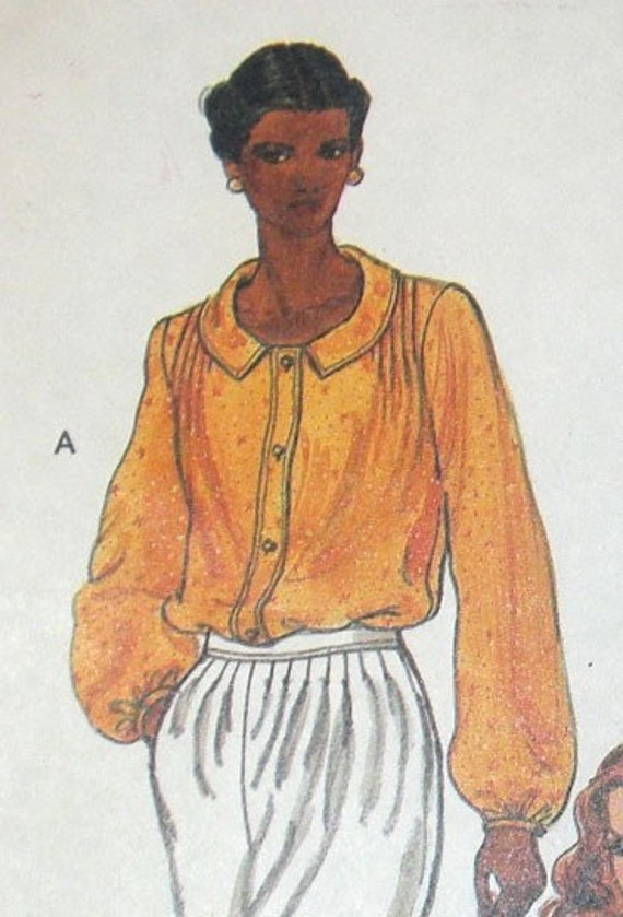 Vintage Sewing Pattern from 1980s Vogue No. 7414 Misses' Blouse