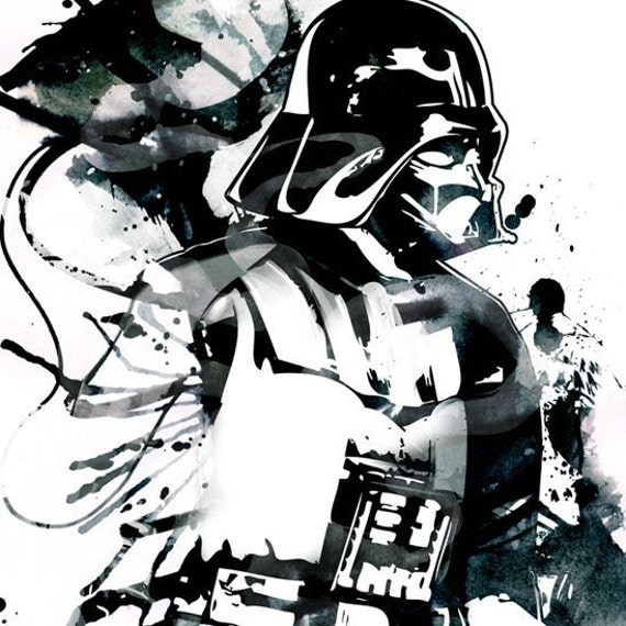 Star Wars Darth Vader Pop Art Style Fan Art Illustration By