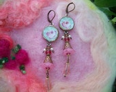 Broken China Mosaic Tile Earrings