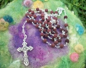 Reserve Listing Rosary with Rose Beads Our Father