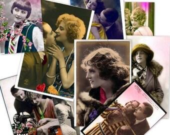 CD 1900 Vintage VICTORIAN WOMEN Ladies Girls Photos Images Postcards