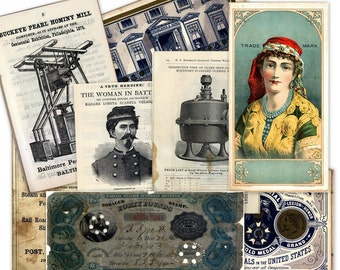 CD 600 Images Scans of PAPER VINTAGE EPHEMERA and OLD ADVERTISING 1800s - 1900s