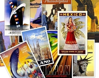 CD 165 Hi Res Vintage Tourism TRAVEL POSTERS Around The World jpeg Art Illustrations circa 1900s