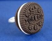 Miniature Food Jewelry Oreo Cookie Ring