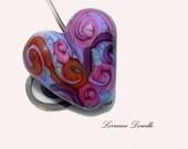 Water Colour Scrolls  - Statement Glass Heart-  SRA