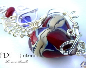 Wire Wrapped Heart Tutorial : Lorraine Dowdle
