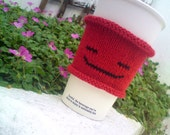 Coffee Cozy - Coffee Cup Cozy with Chilled Out Emoticon