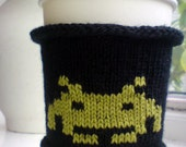 Space Invader Coffee Cozy - Coffee Cup Cozy for geeks and gamers