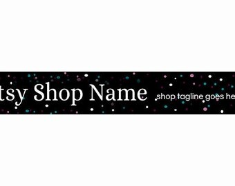 Etsy Banners - Etsy Shop Banners - Etsy Branding - Etsy Store Branding - Etsy Store Graphics -  Dots 2  - Black Etsy Banner