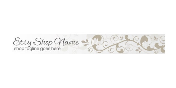 Etsy Shop Banners - Etsy Banners - Etsy Branding - Etsy Store Branding - Etsy Store Graphics - Floral A1