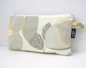 Optic Blossom - Zippered  Clutch / Pouch - BagEnvy Handbags