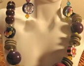 Black Cherry Necklace and Earring Set from the Little Missy Collection tween/teen