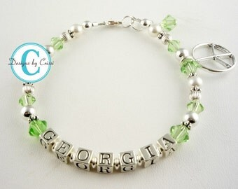 Charm Name Bracelet for Girls of all ages