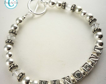 The bracelet your Mom or Grandma or Daughter will love- made with the children's/ child names or her special personalization
