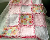 Flannel Rag Quilt - Candy Pink