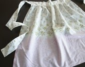 sweet romantic pink vintage apron