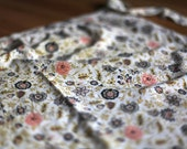 flowery vintage apron