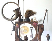 assemblage art - 'a three pipe walk'