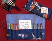 USA Air Force - Colorful Crayon Wallet with Mini Coloring and Activity Book