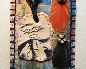 ACEO OOAK Original Primitive Petroglyph