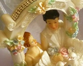 Wedding Cake topper, Bride and Groom, Wedding Couple reincarnated by mystic2awesome