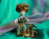Fantasy Doll, Assemblage Art, Dragon tamer, Dragon Pet by mystic2awesome at Etsy