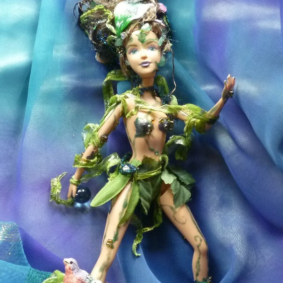Nymph Doll, Garden Nymph, Fairy Nymph, Garden Doll, BFF Doll by mystic2awesome