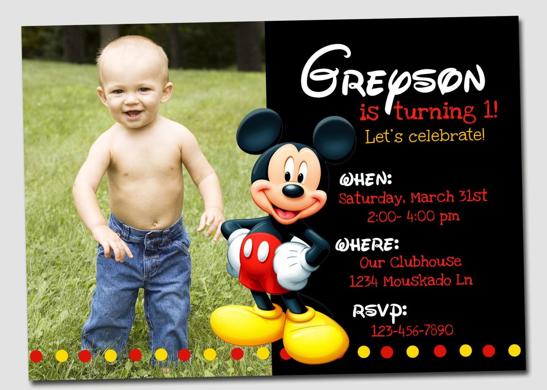 Mickey Mouse Invitation