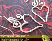 EARRINGS - Hollow Hearts Earrings - sterling silver