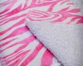 Wash Cloths - Hot Pink Zebra
