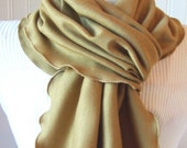 Fields Of Gold.....Ruffled Scarf......New Colors of Autumn