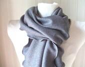 Silver Ash Grey.....Ruffled Scarf......Autumn Fashion
