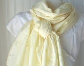 Pale Yellow Daisy.....Cotton  Scarf......New Spring Fashion