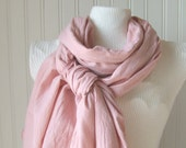 Dusty Pink Cotton Gauze Scarf.....New