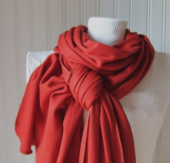 Autumn Spice Jersey Scarf....Extra Long