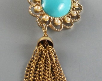 1973 SARAH COVENTRY BROOCH Magic Moods Tassel