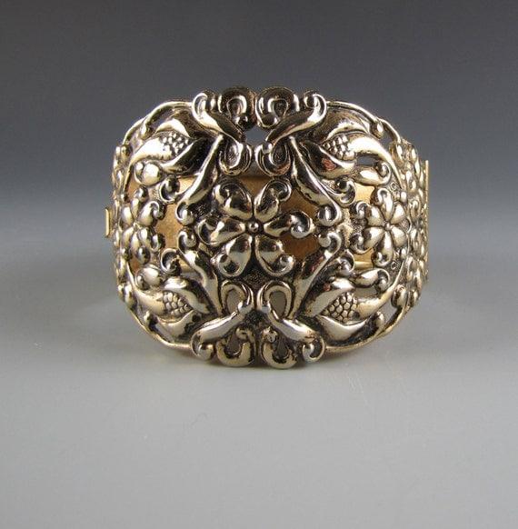Art Nouveau Brass Cuff