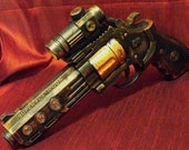 Steampunk cyber gothic gun pistol laser LARP Prof. Von Kreuzenberg gun tool to another dimension ------ DIRECTLY FROM YEAR  2053---- 2-3 Days SHIPPING