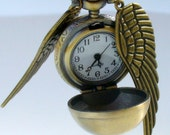 LEGENDARY FLYING  Golden Snitch WATCH necklace