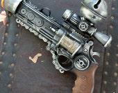 Steampunk  TESLA gun Victorian scifi pistol ZOMBIE