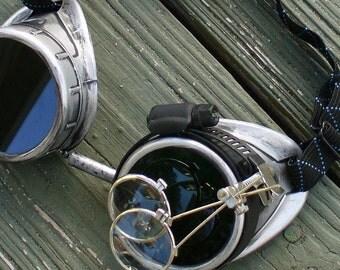 Steampunk goggles glasses Time Travel Crazy Scientist's Oculo-Vision Tool---slvrslvr