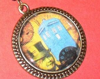 TIME TRAVEL Steampunk Pocket WATCH necklace
