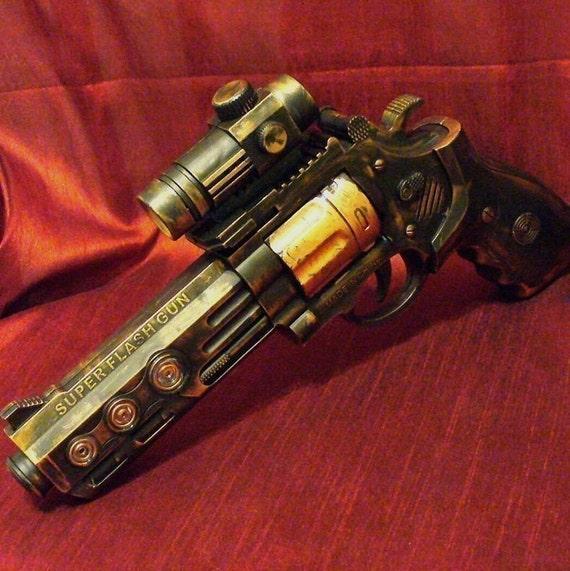 Steampunk cyber gothic gun pistol  Prof. Von Kreuzenberg gun tool to another dimension ------ DIRECTLY FROM YEAR  2053