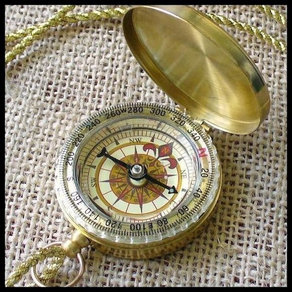 Steampunk Victoriana Cute Pirate Necklace COMPASS----GREAT GIFT